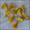 15mm RING : MUSTARD Tassel - per 10 pieces