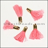 18mm GOLD : PINK Tassel - per 10 pieces