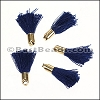 18mm GOLD : NAVY Tassel - per 10 pieces