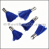 18mm SILVER : BLUE Tassel - per 10 pieces