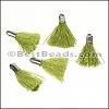 18mm SILVER : OLIVE Tassel - per 10 pieces