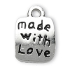 Made with Love charm SILVER - per 6 pcs