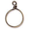 Wire Ring 20mm Antique Brass