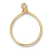 Wire Ring 32mm Gold Plate