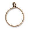 Wire Ring 32mm Antique Brass