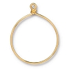 Wire Ring 42mm Gold Plate