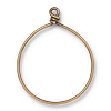 Wire Ring 42mm Antique Brass