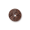 spiral dance bead cap ANT. COPPER