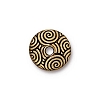 spiral dance bead cap BRIGHT GOLD