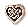 celtic heart bead SILVER