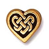 celtic heart bead ANTIQUE GOLD