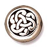 celtic triad bead ANTIQUE SILVER