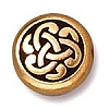 celtic triad bead ANTIQUE GOLD