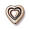 heart bead ANTIQUE SILVER