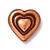 heart bead ANTIQUE COPPER