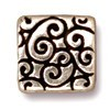 square scroll bead ANTIQUE SILVER