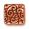 square scroll bead ANTIQUE COPPER