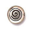 spiral bead ANTIQUE SILVER