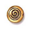 spiral bead ANTIQUE GOLD