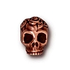 rose skull bead ANTIQUE COPPER