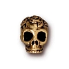 rose skull bead ANTIQUE GOLD