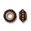 beaded twist euro bead ANTIQUE COPPER
