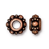 Turkish euro bead ANTIQUE COPPER