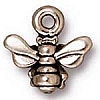 small honeybee charm ANTIQUE SILVER