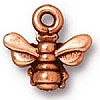 small honeybee charm ANTIQUE COPPER