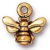small honeybee charm ANTIQUE GOLD