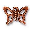 open butterfly charm ANTIQUE COPPER
