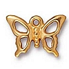 open butterfly charm BRIGHT GOLD