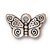 spiral butterfly charm ANTIQUE SILVER