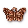 spiral butterfly charm ANTIQUE COPPER