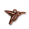 hummingbird charm ANTIQUE COPPER