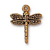 dragonfly charm ANTIQUE GOLD