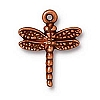 dragonfly charm ANTIQUE COPPER