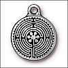 labyrinth charm ANTIQUE SILVER