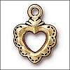 sacred heart ring charm ANTIQUE GOLD