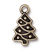 christmas tree charm BRASS OXIDE