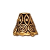 spiral cone BRIGHT GOLD  - per 10 pcs