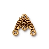 garland fan link/earring ANTIQUE GOLD  - per 10 pcs