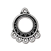 bali fan link/earring ANTIQUE SILVER  - per 10 pcs