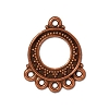 bali fan link/earring ANT COPPER - per 10 pcs