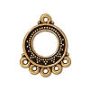 bali fan link/earring ANTIQUE GOLD  - per 10 pcs