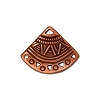 ethnic fan link/earring ANT COPPER - per 10 pcs