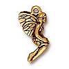 leaf fairy charm ANTIQUE GOLD