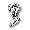 leaf fairy charm ANTIQUE SILVER