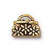 daisy purse charm ANTIQUE GOLD