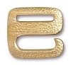 Clasp Distressed E Hook BRIGHT GOLD